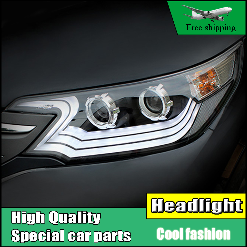 Car Styling Headlight For Honda CR-V CRV headlights 2012-2014 head lamp LED DRL front light Bi-Xenon Lens xenon HID high quality hid headlights led drl angel eyes for honda cr v 2012 2014
