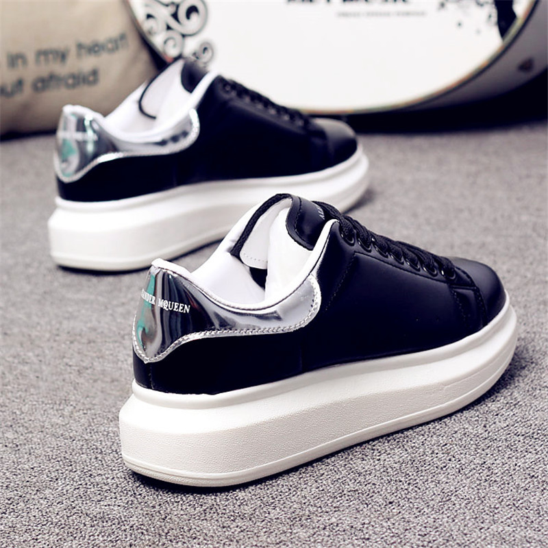 D KNIGHT Brand Women Casual White Shoes 2019 Spring Winter Women Flats Platform Shoes Fashion Lace-Up Women Sneakers Big Size 44 (14)