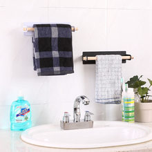 Hoomall Storage Rack Towel Drain Drying Storage Holder Shelf Rack Wooden Towel Bar Kitchen Bathroom Organizer Free Drilling(China)