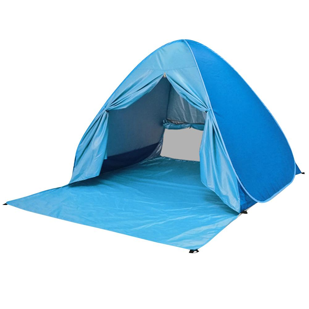 Outdoor Camping Beach Tents Sunshade Sun Protection Free Speed Folding Quick Automatic Opening Outdoor Tent With Curtains