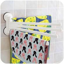 Vanzlife Coréenne DeHUB forte sucker cinq rotatif serviette de bain suspendu porte-serviettes de bain serviette bar serviette cintres
