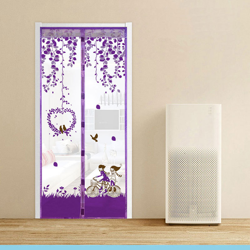 3 Color Curtain Anti Mosquito Magnetic Tulle Shower Curtain Automatic  Closing Door Screen Summer Style Mesh