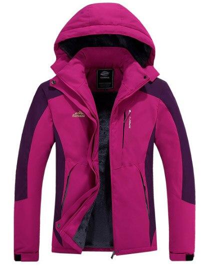 DIRENJIE hiver femmes pêche Trekking randonnée Camping ski imperméable vestes en plein air femmes garder au chaud polaire vestes