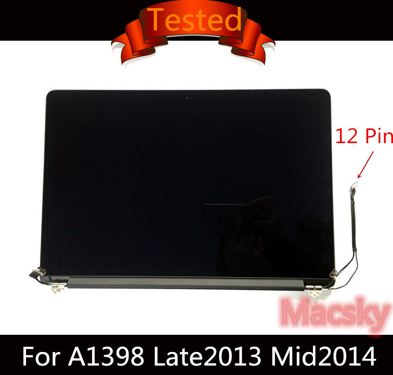 Original Retina 15.4'' A1398 Complete LCD Display Screen Assembly for Macbook Pro 15 A1398 2013 2014 2015 ME293/294 MGXC2LL/A original new a1398 lcd screen lid for apple macbook pro 15 retina a1398 lcd back cover 2012 2013 2014 2015
