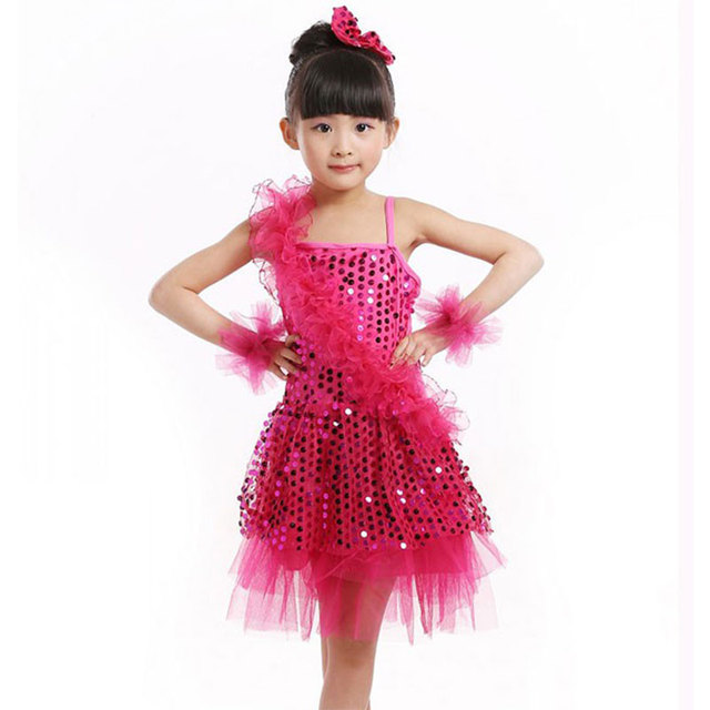 Children Kids Ballet Latin Dancewear Stage Dancing Clothing Dance Costume Child  Latin Ballet Dance Dress For d9a99677ecb5