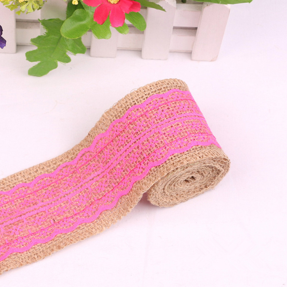 5pcs/lot 6cm*200cm Sewing Fabric Lace Linen Burlap Ribbon Trims ...