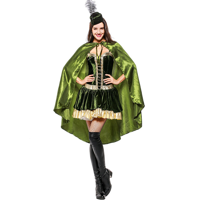 Adult Women Adventurous Robin Hood Halloween Cosplay Costume For Festival Performance  sc 1 st  AliExpress.com & Adult Women Adventurous Robin Hood Halloween Cosplay Costume For ...