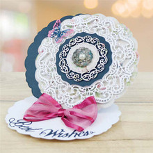 Lace Circle Frame Metal Cutting Dies for Scrapbooking New 2019 Craft Embossing Cuts Card Making Stencils DIY
