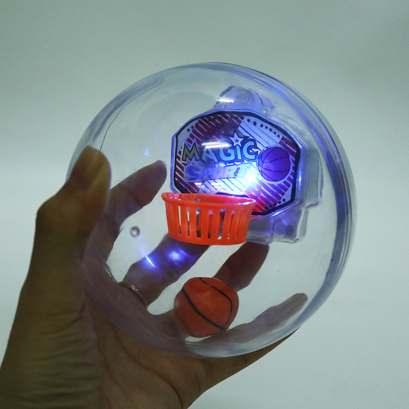 Funny Novelty Spinner Handheld Basketball Machine Palm Basketball With Light + Music + Basket Anti Stres Toy For Gift
