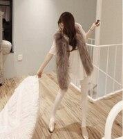 Plus Big Size Women Winter Coat Fur Vest Black/White/Grey Women Faux Fur Vest Coat Fox Fur Coat S XXXL