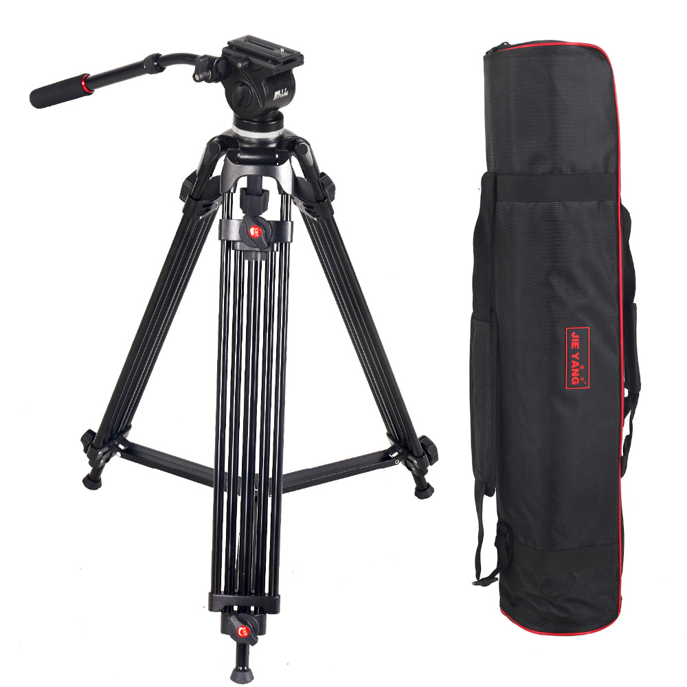 JIEYANG JY0508 JY-0508 5 kg Treppiede Professionale treppiedi di macchina fotografica/Video Treppiedi/Dslr VIDEO Treppiedi Testa Fluida di Smorzamento per video