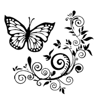 Butterfly Flower Car-Styling Vehicle Body Window Reflective Decals Sticker Decor 2