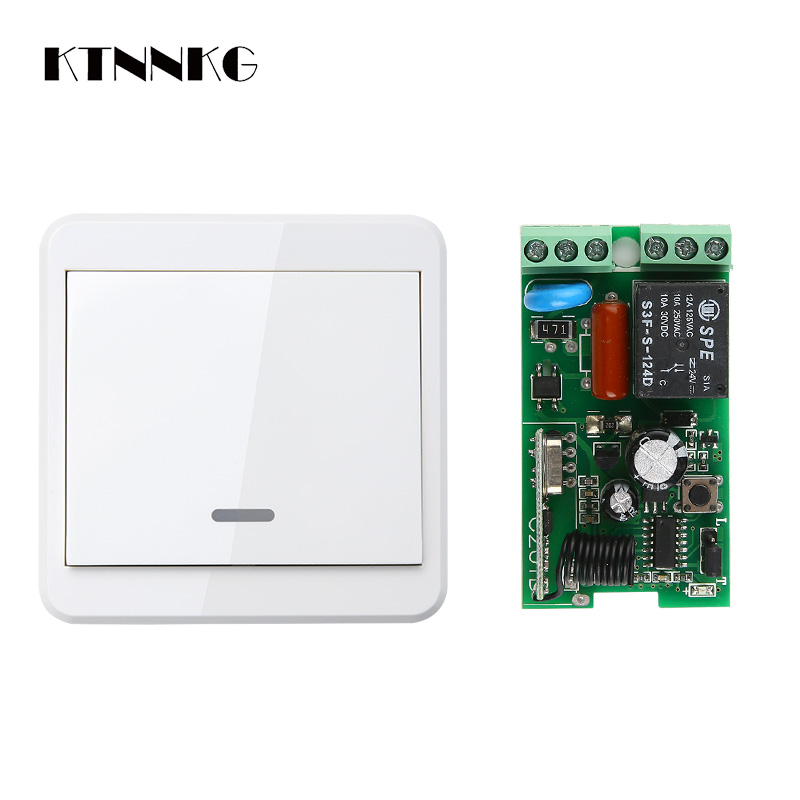 Wireless Wall Mounted Doorbell Switch With Transmitter Of Remote