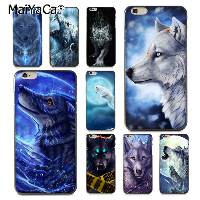 MaiYaCa Black Wolf Lion Coque Shell Phone Case for Apple