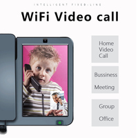GSM SIM Card Smart Touch Screen Wifi Video Fixed Telephone With Speed Dial Bluetooth APPS For Home Office Smart Phones