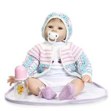 Vinyl Reborn Doll So Truly Real Life Girl Newborn Baby Dummy Collectible Women Treats 22-Inch