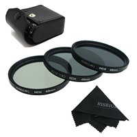 RISE UK 77MM Neutral Density Filter Lens Set Kit ND2 ND4 ND8 ND 2 4 8