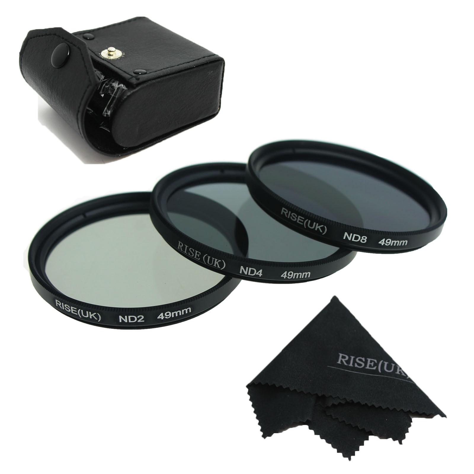 RISE(UK) 49mm 52mm 55mm 58mm 62mm 67mm 72mm 77MM Neutral Density Filter Lens Set Kit ND2 ND4 ND8 ND 2 4 8