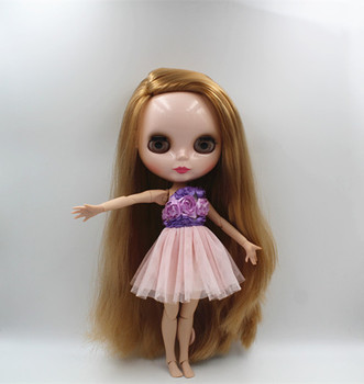 Blygirl Blyth doll Nude dolls brass straight hair 30cm joint body 19 joint DIY doll can change makeup