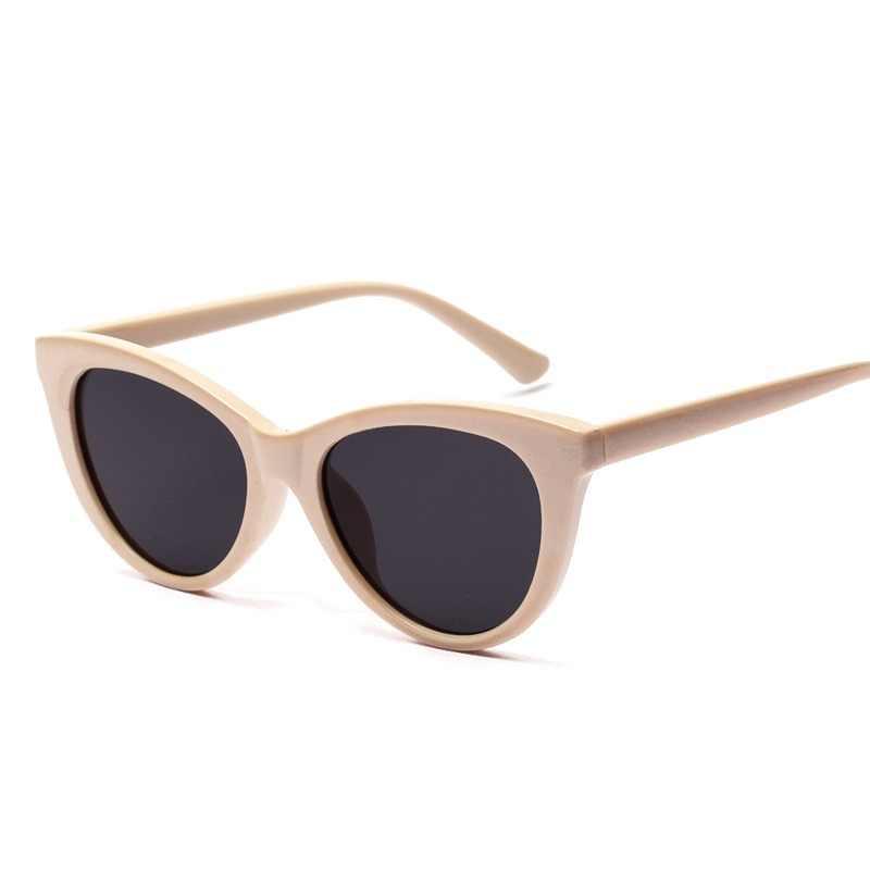 7f462536065a9 Ralferty 2018 Vintage Ladies Cat Eye Sunglasses Women UV400 Retro Cateye  Sun Glasses Beige Colorful Eyewear