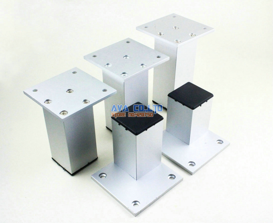 4 pieces 90mm aluminium persegi furniture kabinet kaki meja kaki lemari