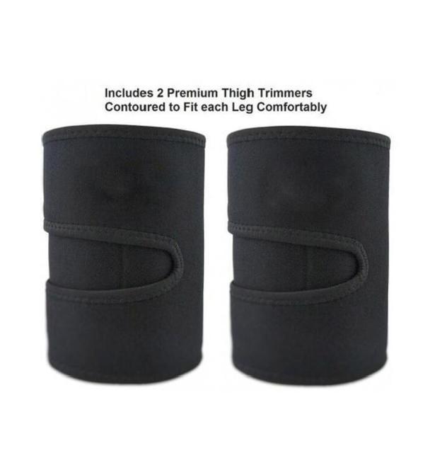 Leg Shaper Sauna Sweat Thigh Trimmers Calories off Warmer Slender Slimming Legs Fat Thermo Neoprene Compress Belt Face Lift Tool 5