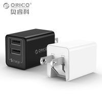 ORICO 5V2 4A USB Charger Travel Wall Charger Adapter12W Portable Smart Mobile Phone Charger US Plug