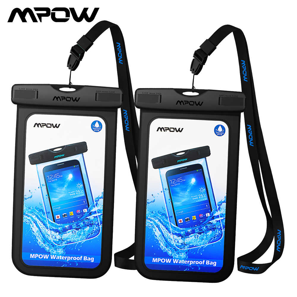 cb6b93b10f475c [2 PCS] Mpow PA078 IPX8 Universal Waterproof Phone Case Pouch For iPhone X  Dry