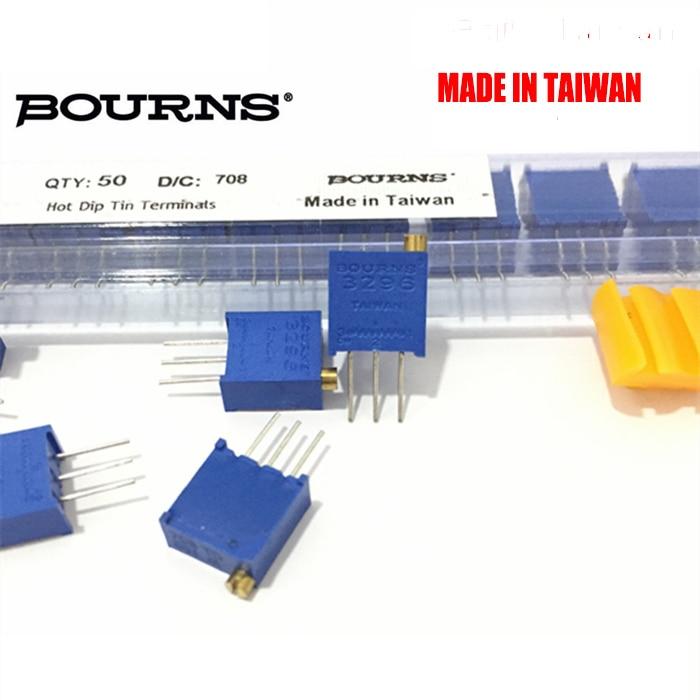 Free shipping 100pc original BOURNS potentiometer 3296W 10K 50K 100  K3296W-1-103LF multiturn trimming potentiometer