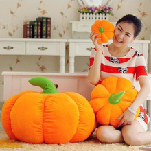 Soft Lovely Stuffed Plush Vegetable Toys Pumpkins Birthday Halloween Gift For Children Pelucia Cute Toy Cojin Amarillo 60F0001