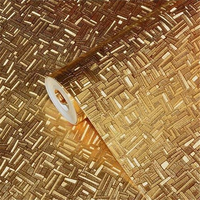 Beibehang Papel De Parede Gold Foil Reflective Wallpaper KTV Bar Lobby Barber Shop Trough Cashier Stage