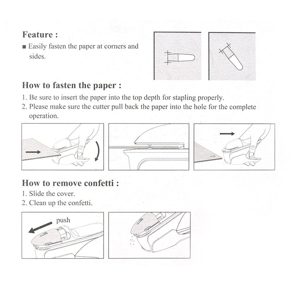 Hand-Held Mini Safe Stapler Free Stapleless Without Staples Stapler 7 Sheets Capacity For Paper Stapler Office Binding Supplies
