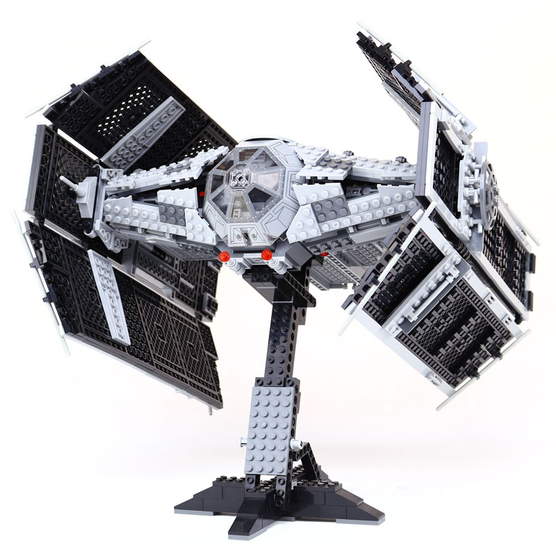 Lepin 05055 The Rogue One USC Vader TIE Advanced Fighter Mobile 1212Pcs Building Block Compatible Legoings Star Wars 10175 lepin 05055 1212pcs star wars vader tie advanced fighter building block toys figure gift for children compatible legoe 10175