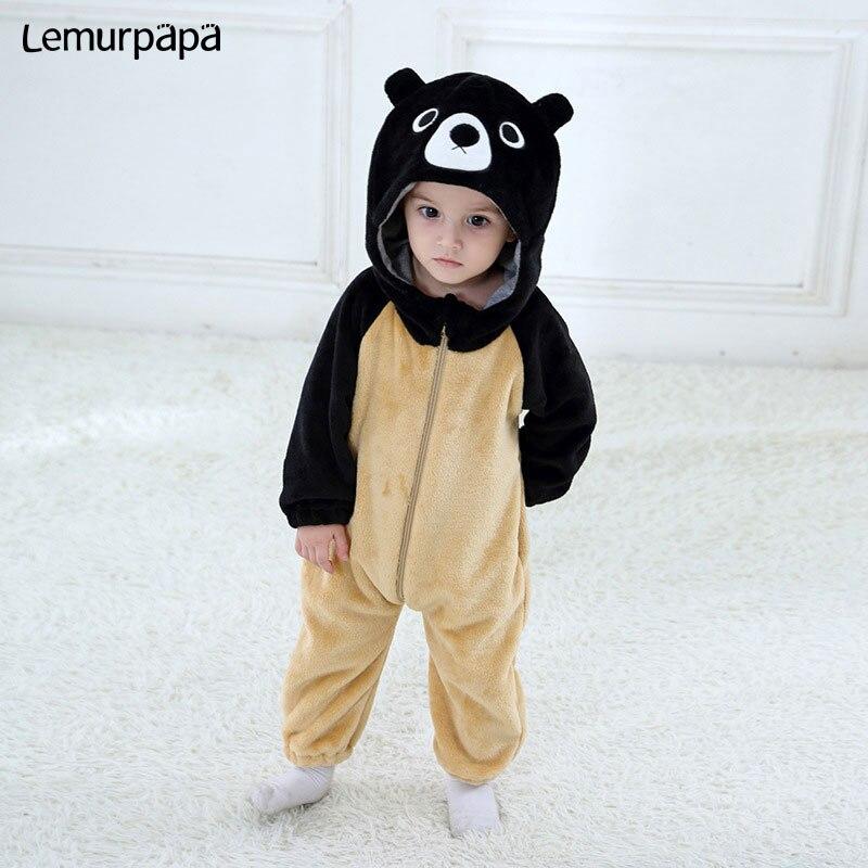Jumpsuit Playsuit Baby Infant Cute Cartoon Animal Winter Outfits Kid Bodysuit