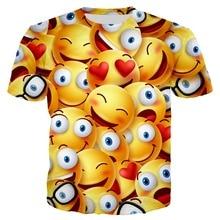 Dropshipping Harajuku Summer Top 3d Print Funny Emotion T shirt Men Casual Tees Short Sleeve T-shirt Unisex Tshirt Hip Hop Tee