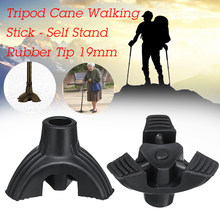 19mm Walking Stick Cane Crutch Tripod Pad Rubber Tip Self Standing Non-slip End Duty Ferrule Cap Bottom Sport Health Care(China)