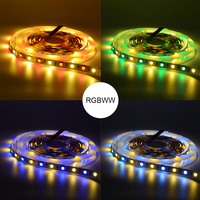 Zigbee APP Control RGBW Led Strip lights Smart Home Controller waterproof Tape lights work with ZLL Echo Plus and Lightfy Hub|RGB Controlers| |  -