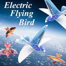 Электрическая летающая птица игрушки для детей 360 градусов парение Моделирование Птица бионическая хлопающая крыло мощность летающая птица зарядка головоломка