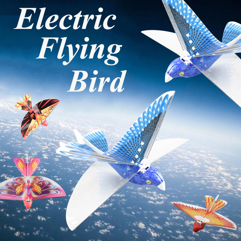 Pássaro Voando Brinquedos Para As Crianças 360 Graus Pairar elétrica Simulação Pássaro Biônico Batendo Poder Asa Pássaro Voando Puzzle de Carregamento