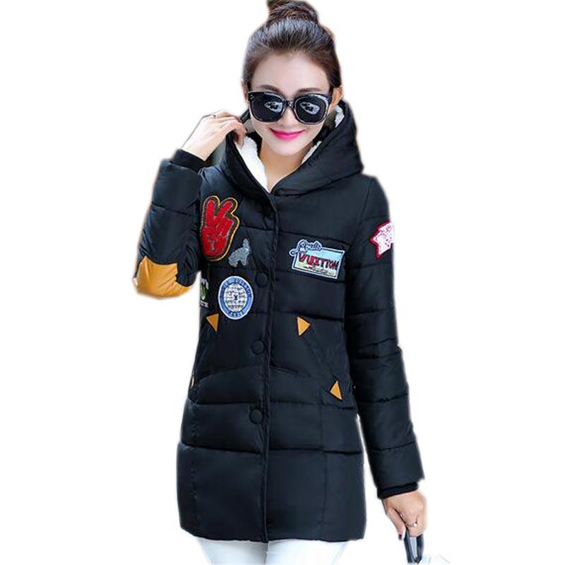 Las ventas calientes del invierno de algodón medias largas chaquetas abrigos par