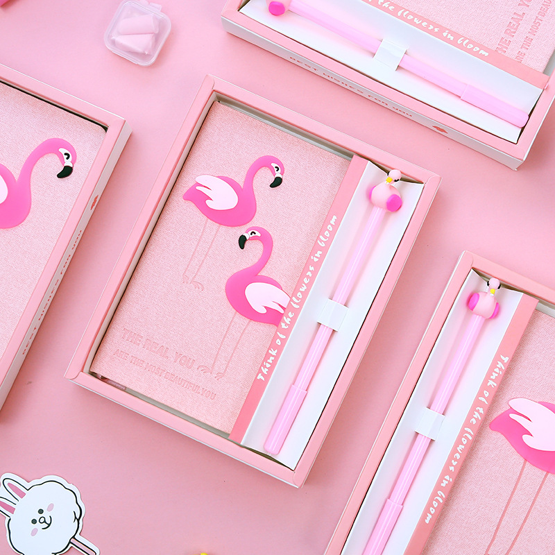 Beautiful Flamingo 80 sheets Kawaii Hardcover Notebook Set Cute Office School Diary Sketch Book Memos Student GiftBeautiful Flamingo 80 sheets Kawaii Hardcover Notebook Set Cute Office School Diary Sketch Book Memos Student Gift