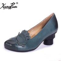 2019 модная женская обувь с острым носком и высокими каблуками женская обувь оригинальный дизайн обувь ручной работы натуральная кожа