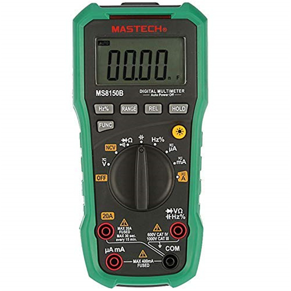 Mastech MS8150D Digital Multimeter Auto Range Ture RMS 6600 Counts Portable Tester Meter Electrical Instrument Diagnostic-toolMastech MS8150D Digital Multimeter Auto Range Ture RMS 6600 Counts Portable Tester Meter Electrical Instrument Diagnostic-tool