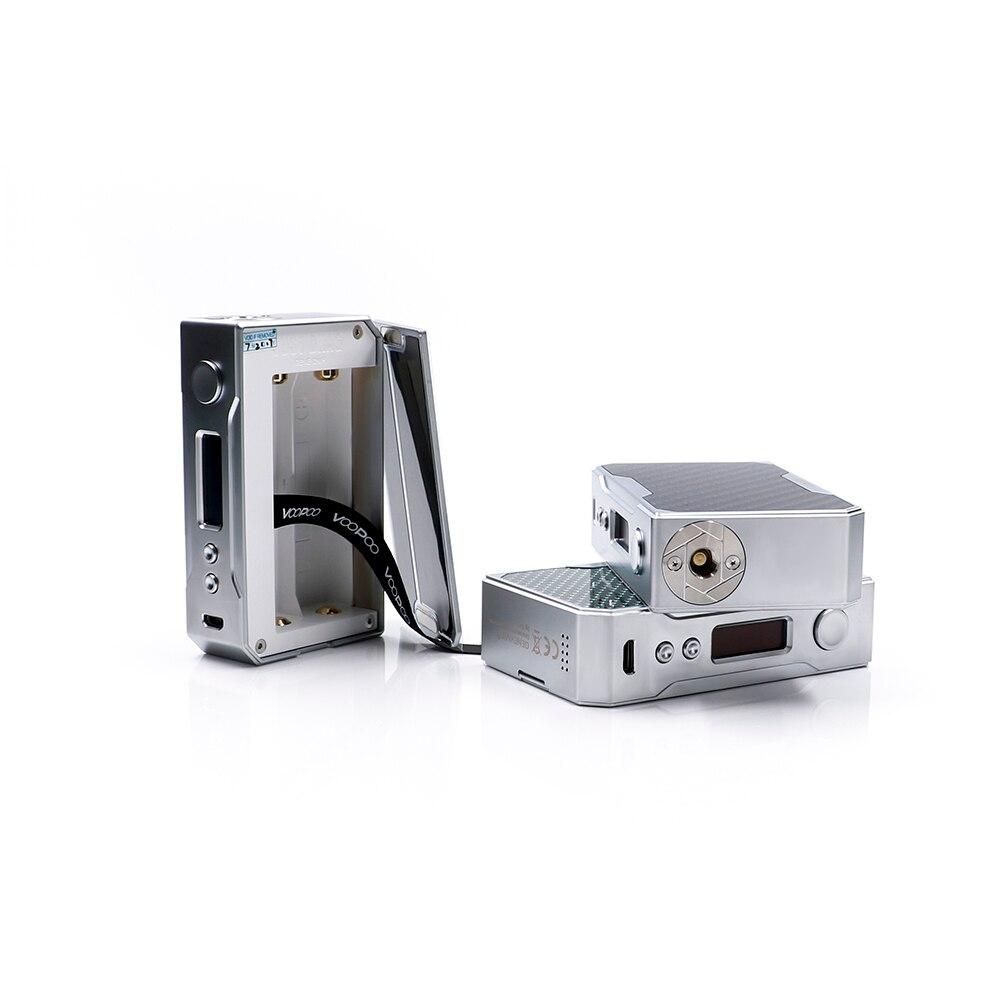 Date D'origine VOOPOO GLISSER 157 W boîte de tc MOD carbone fibre 157 w boîte mod Vaporisateur avec NOUS GÈNE puce contrôle de la température résine Boîte mod - 4