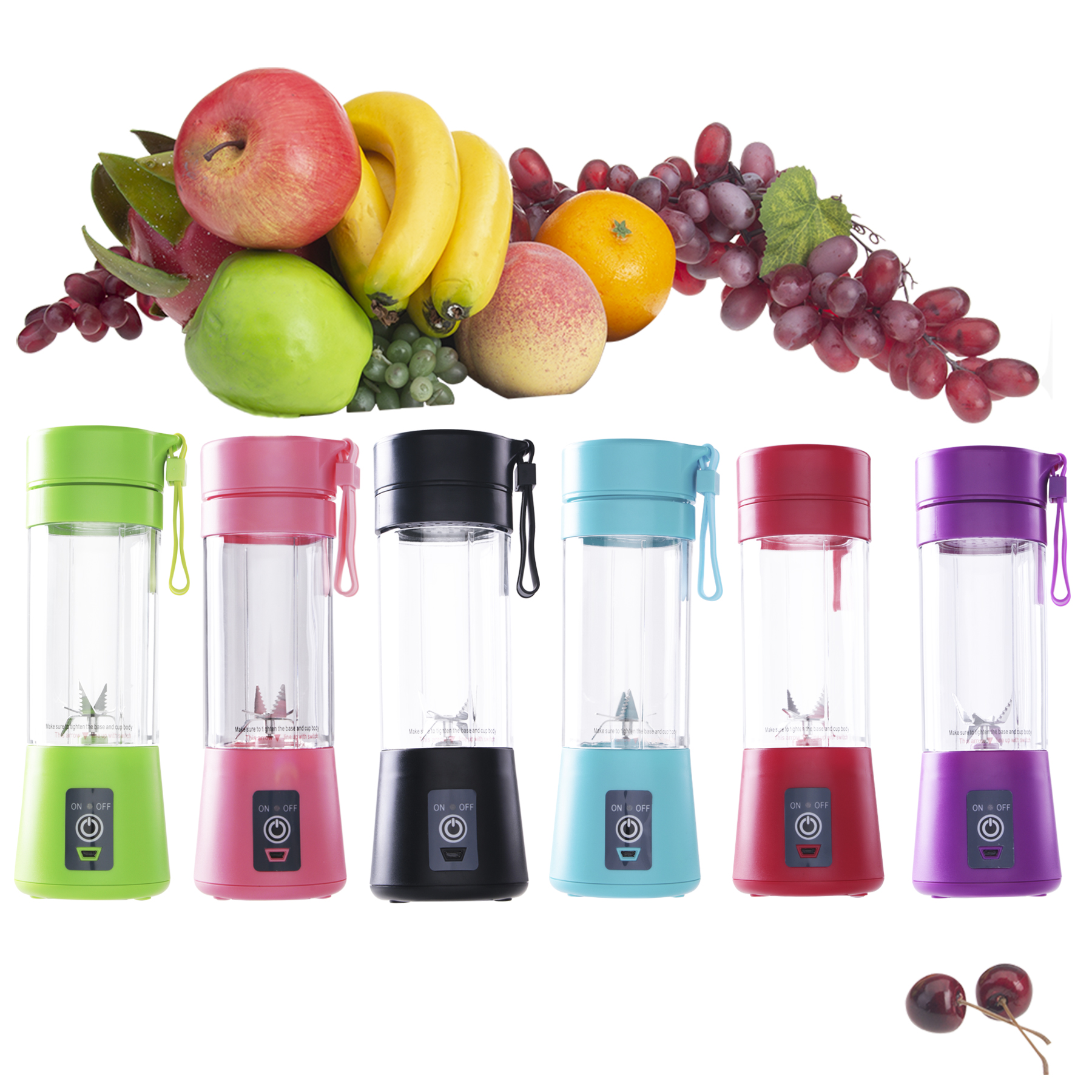 400ml Portable Juice Blender USB Juicer Cup Multi-function Fruit Mixer Six Blade Mixing Machine Smoothies Baby Food dropshipping image