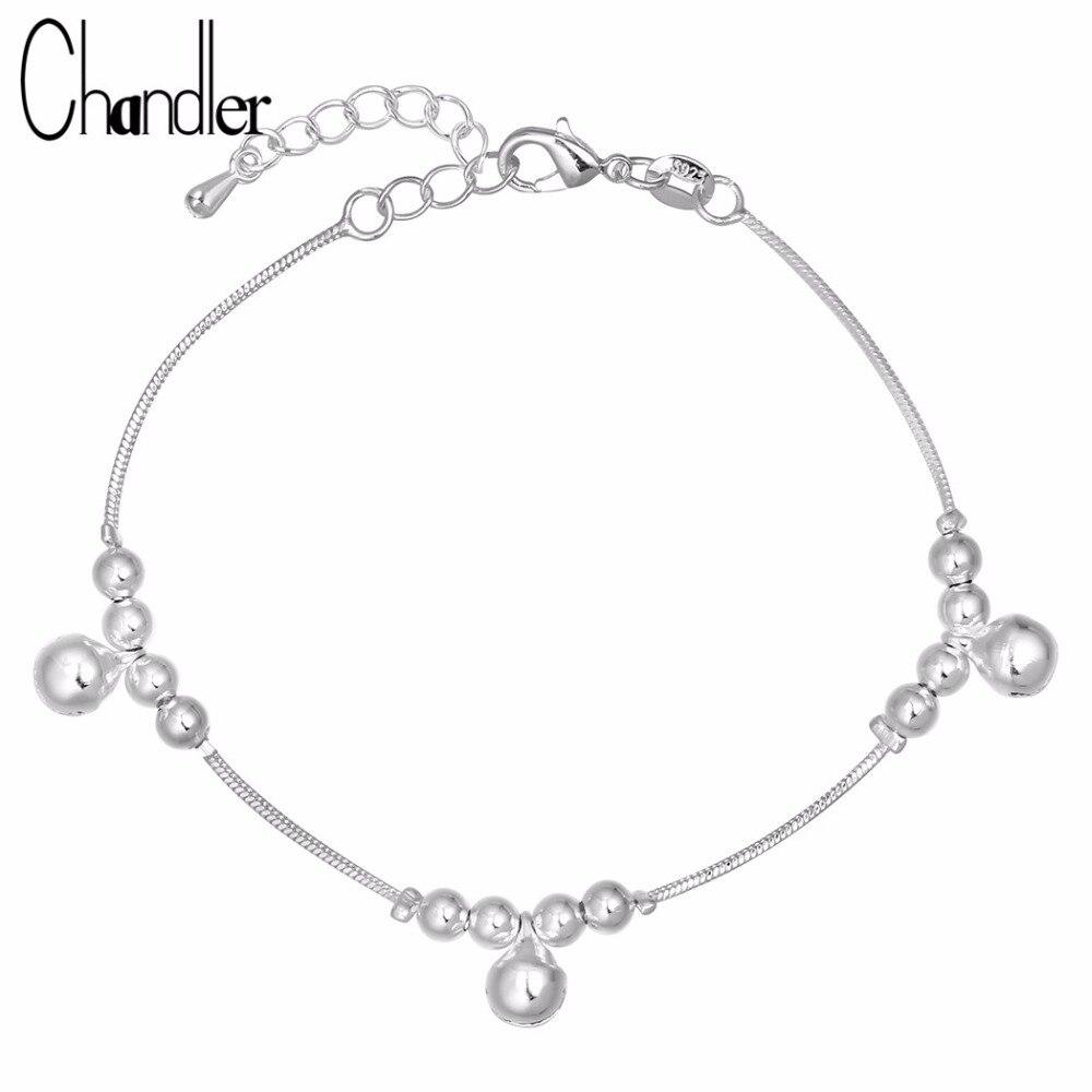 Chandler Brand 925 Sterling Silver Tinkle Bell Bracelet & Bangles For Women Nail Pulseira Carters Love Handmade Trendy Luxury