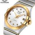 GUANQIN мужские часы Топ бренд класса люкс автоматический бренд Сапфир 316L нержавеющая Золото Механические часы водонепроницаемые Relogio Masculino