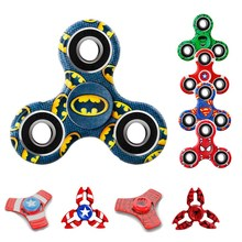 Fidget Puzzle Spinner Batman Spinner Newest Hand Relieve Stress Funny Finger Gyro Round Spinner Adult Kid Relax Toy Gyro