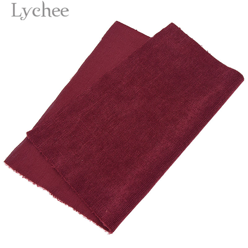 Lychee A4 Embossed Stripes Velvet Fabric Soft Sewing Fabric for Hair Accessories DIY Sewing Crafts Materials 4