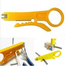 New 1x Useful Convenient Punch Down Network UTP Cable Cutter Stripper Mini Plier